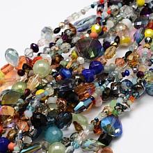 Electroplate Glass Bead Strands X-EGLA-L007-K01