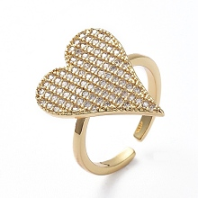 Adjustable Brass Cuff Finger Rings RJEW-G096-02G