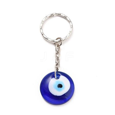 Evil Eye Lampwork KeychainKEYC-JKC00228-01-1