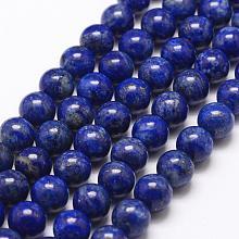 Natural Lapis Lazuli Bead Strands G-G953-01-8mm