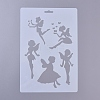 Plastic Drawing Painting Stencils Templates DIY-E015-18H-2