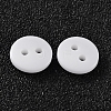 2-Hole Flat Round Resin Sewing Buttons for Costume Design BUTT-E119-18L-19-2