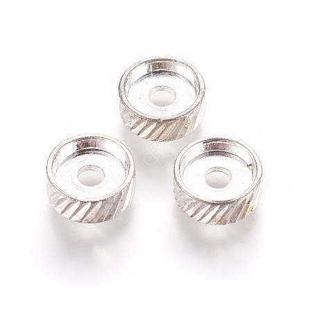Flat Round Alloy Spacer BeadsPALLOY-J504-02S-1