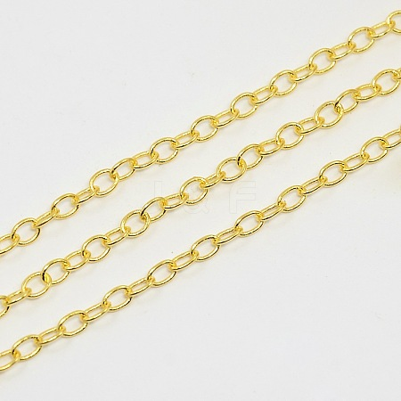 Unwelded Brass Cable ChainsCHC024Y-G-1