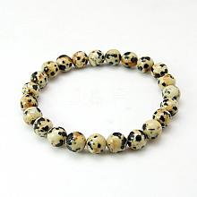 Dalmatian Jasper Bracelets X-BJEW-G073-16