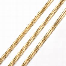 Vacuum Plating 304 Stainless Steel Cuban Link Chains CHS-H007-69G