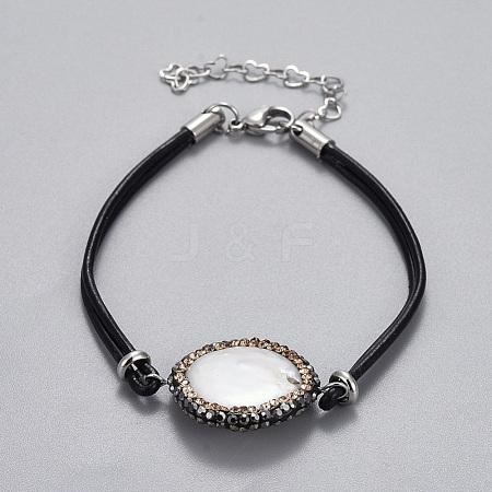 Cowhide Leather Cord BraceletsBJEW-JB04290-05-1