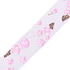 Flower Printed Organza Ribbon X-ORIB-R026-25mm-01-1