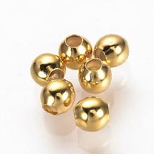 Brass Spacer Beads KK-Q735-54G
