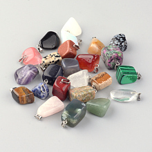 Natural & Synthetic 24 Style Mixed Stone Pendants G-S045-14A