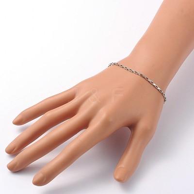316 Stainless Steel Box Chain BraceletsX-BJEW-JB01865-1