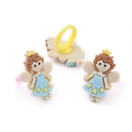 Children's Day Acrylic Cuff Finger RingsRJEW-JR00280-M-1