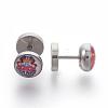304 Stainless Steel Ear Fake Plugs GaugesEJEW-L207-P01-1