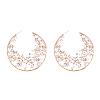 Alloy Glass Rhinestone Stud EarringsX-EJEW-P146-B01-1