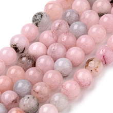 Natural Cherry Blossom Jasper Beads Strands X-G-Q462-63-6mm