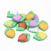 Mixed Color Camellia Flower Acrylic Flatback Cabochons Fit DIY Phone Decorations X-BUTT-E055-M-1