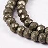 Natural Pyrite Beads StrandsG-L051-6x4mm-01-2
