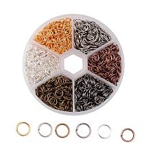 1 Box 6 Color Iron Jump Rings IFIN-JP0012-6mm