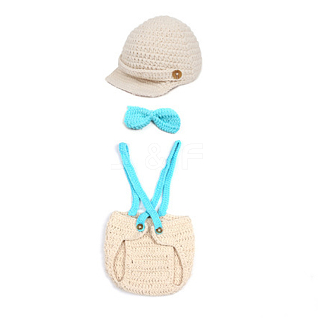 Cute Handmade Crochet Baby Hat Costume Photography PropsAJEW-R030-14-1