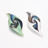 Handmade Dichroic Glass Big PendantsDICH-X035-M-2
