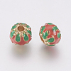 Alloy Enamel Beads PALLOY-G230-52B-2