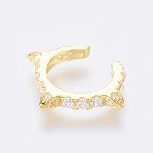 925 Sterling Silver Cuff Earrings EJEW-AA00271-14G