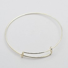 Adjustable Iron Bangle Makings X-MAK-N020-01P