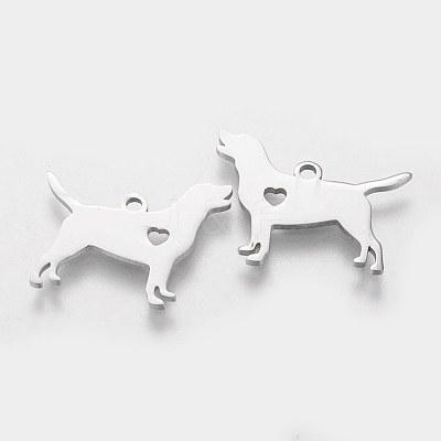 304 Stainless Steel Puppy PendantsSTAS-Q201-T431-1