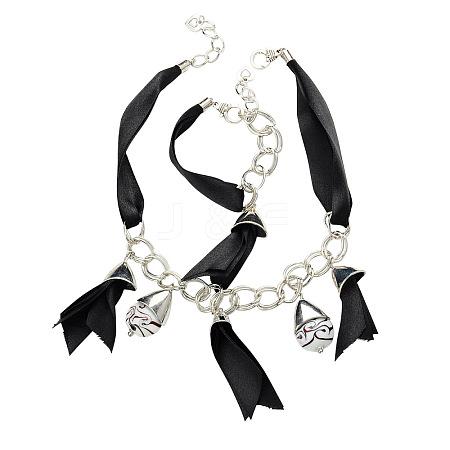 Tibetan Style Jewelry Sets: Necklaces and BraceletsSJEW-PJS068-1