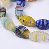 Handmade Millefiori Glass Beads Strands M-LK01-2