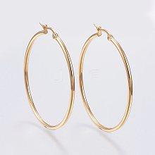 304 Stainless Steel Hoop Earrings EJEW-F105-06G