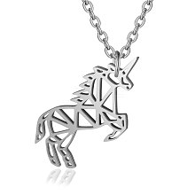201 Stainless Steel Pendant Necklaces NJEW-T009-JN130-40-1