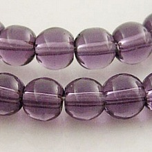 4mm Purple Round Glass Crystal Beads Strands Spacer Beads X-GR4mm06Y