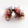 Flower Cloth Plastic Banana Hair ClipsPHAR-S278-01-2