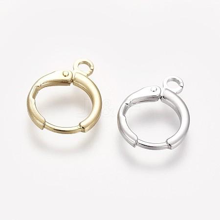 Brass Huggie Hoop Earring FindingsKK-L179-04-1