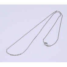 304 Stainless Steel Necklaces Unisex Cable Chain Necklaces NJEW-507L-7