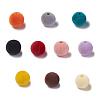 Flocky Acrylic BeadsX-OACR-L011-C-M-1