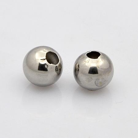 304 Stainless Steel Round Spacer BeadsSTAS-N020-18B-1