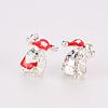 Christmas Alloy Enamel European BeadsMPDL-R043-01S-3