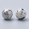 AB-Color Spray Painted Acrylic BeadsACRP-R146-02-2