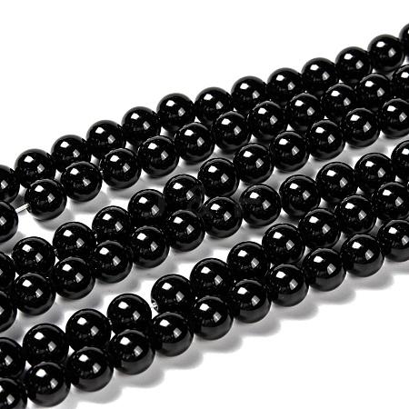 Natural Obsidian Beads StrandsG-K123-06-8mm-1
