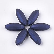Rubberized Style Acrylic Beads X-MACR-T026-10A