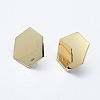Brass Stud Earring FindingsKK-F728-19G-NF-1