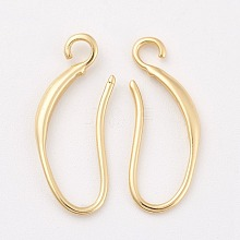 Brass Earring Hooks X-KK-F714-06G