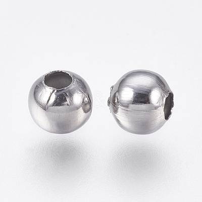 Round 304 Stainless Steel Spacer BeadsSTAS-I050-06-6mm-1