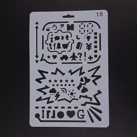 Plastic Drawing Painting Stencils TemplatesDIY-F018-B15-1