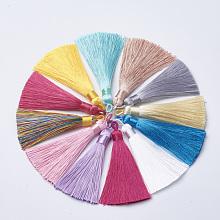 Polyester Tassel Big Pendants Decoration AJEW-S059-M