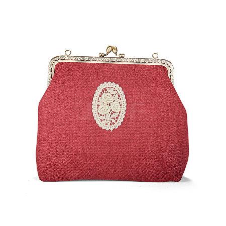 SHEGRACE&reg Cotton and Linen Women Evening BagJBG007A-01-1