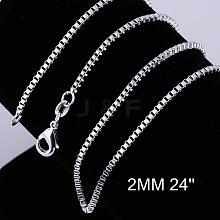Brass Box Chain Necklace Making NJEW-BB10859-24