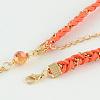 Woman's Dyed Feather Braided Suede Cord HeadbandsOHAR-R184-05-5